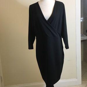 Express  Asymmetrical Surplice Dress